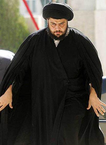 El clérigo chií Múqtada al Sáder, durante una visita oficial a Ammán (Jordania) en febrero del año pasado.