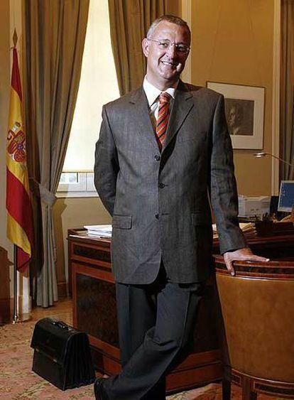Jesús Caldera, en el Ministerio de Trabajo.