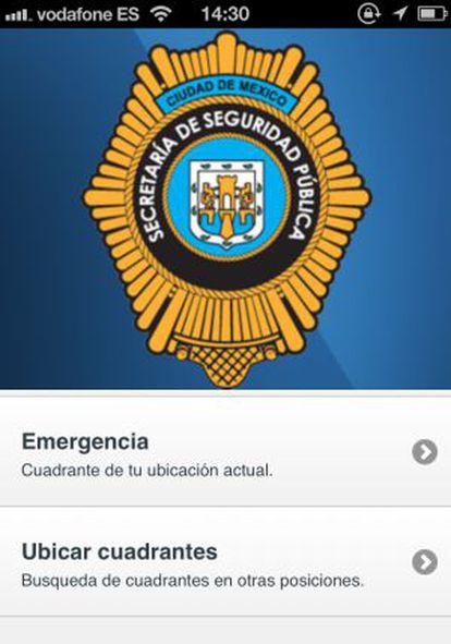 Aplicación de la Policía de México D.F.