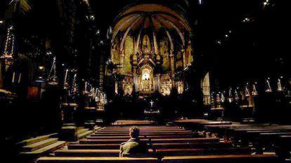 Miguel Hurtado, que sufrió abusos sexuales a los 16 años, en la abadía de Montserrat, en 2019.