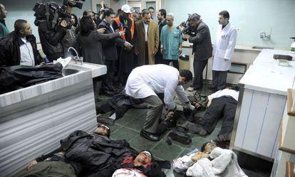 Víctimas del atentado, en un hospital de Damasco.