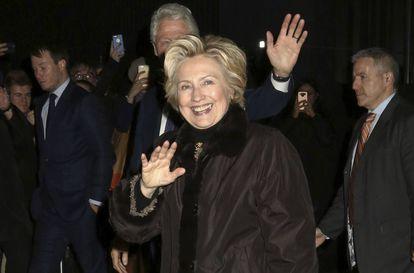 Hillary Clinton, fotografiada este 1 de febrero, cuando acudía a ver un musical de Broadway.