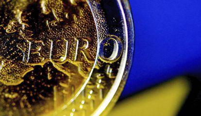 Detalle de una moneda de euro.