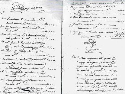 Inventario obras Evaristo Pérez de Castro. Archivo de Protocolos de Madrid.