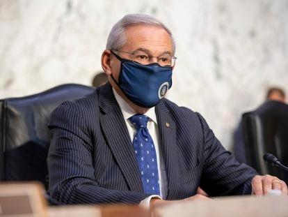 El senador Bob Menéndez el 4 de agosto en el Capitolio.