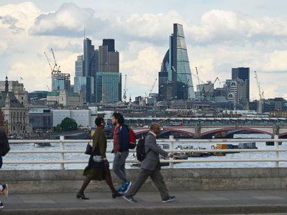 Vista de la City londinense desde el puente de Waterloo el pasado 23 de mayo.