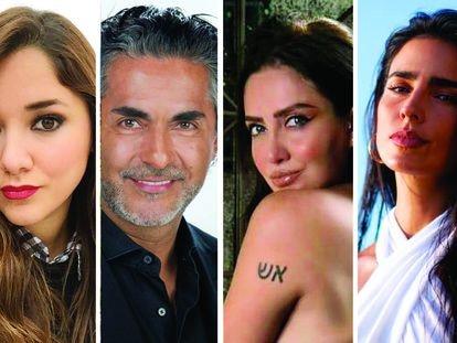 Sherlyn, Raul Araiza, Celia Lora y Bárbara Regil.