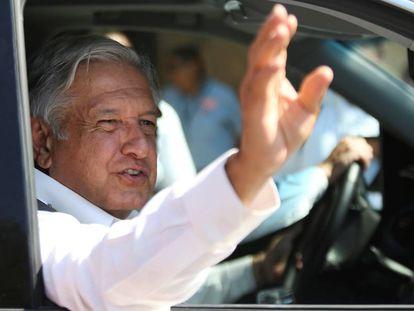 El presidente de México, López Obrador, durante un encuentro en Mérida (Yucatán).