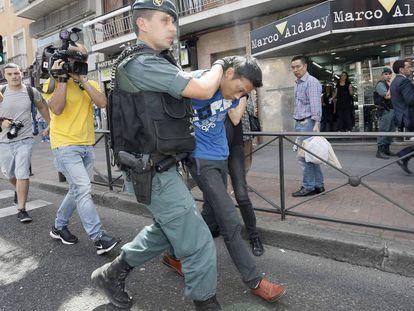 Operación contra la mafia china en Puente de Vallecas en mayo de 2015.