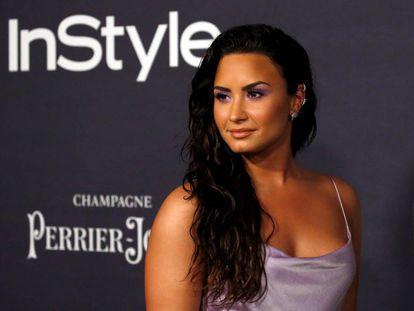La cantante Demi Lovato, a su llegada a los premios InStyle la semana pasada en Los Ángeles.