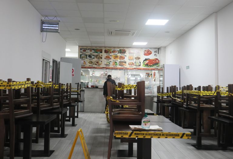 El restaurante Hong Du, en la calle Nicolás Sánchez, en el distrito de Usera de Madrid.
