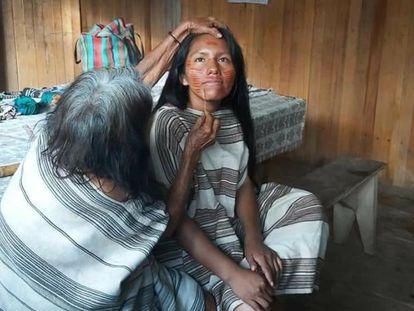 La lideresa indígena peruana Yaquemilsa Matiashi.