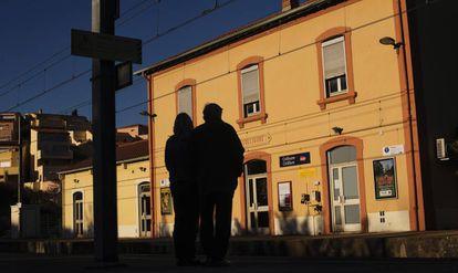 Estación de tren de Collioure, el pasado 12 de febrero.