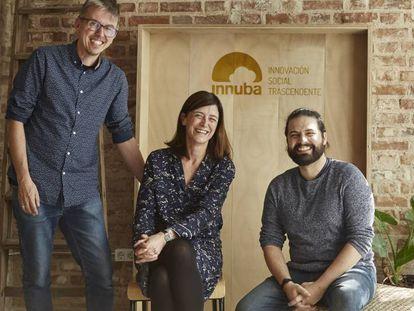 Los tres fundadores de Innuba.