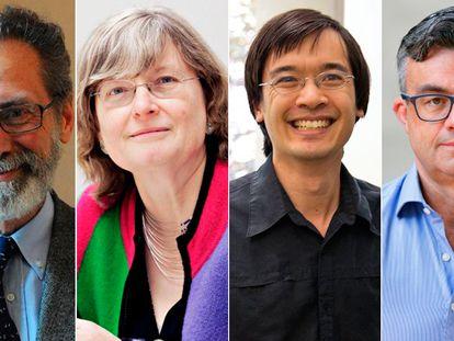 Los matemáticos Yves Meyer, Ingrid Daubechies, Terence Tao y Emmanuel Candès, ganadores del Princesa de Asturias de Investigación Científica y Técnica 2020.