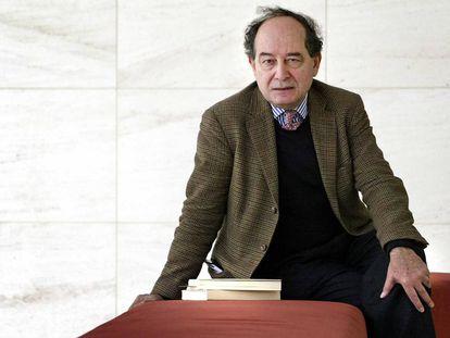 Roberto Calasso, retratado en Bercelona.