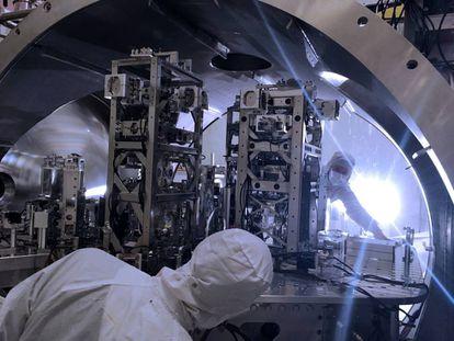 Imagen del detector LIGO.