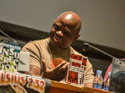 Tade Thompson, autor de 'Rosalera', este jueves en el festival Celsius.