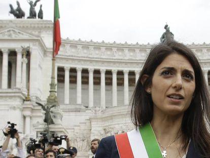 La alcaldesa de Roma, Virginia Raggi, el pasado junio.