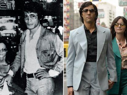 A la izquierda, el negociante de piedras preciosas Charles Sobhraj. A la derecha, una imagen de la serie de Netflix.