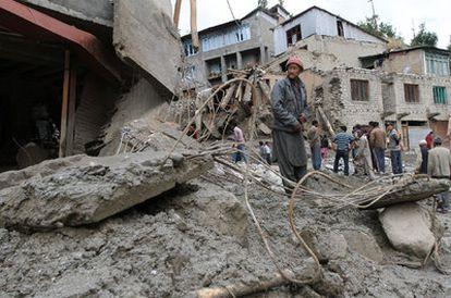 Imagen de los destrozos en la ciudad de Kargil
