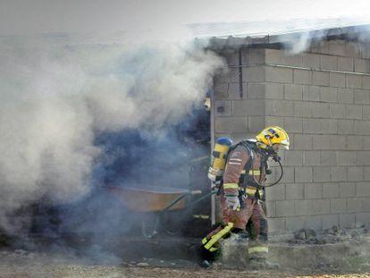 Los bomberos, en la zona.