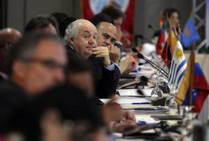 Dirigentes empresariales participan en la XXIV Reunión de Presidentes de Organizaciones Empresariales Iberoamericanas, en Ciudad de Panamá (Panamá).