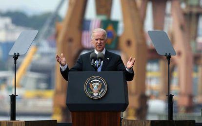 El vicepresidente de Estados Unidos, Joe Biden, durante su visita a Río.