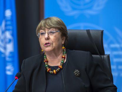 La alta comisionada para los derechos humanos de la ONU, Michelle Bachelet, en una imagen de archivo.