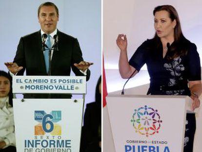 La gobernadora conservadora de Puebla, Martha Erika Alonso, había sucedido en el cargo a su marido, Rafael Moreno Valle, tras un polémica victoria en las elecciones de julio