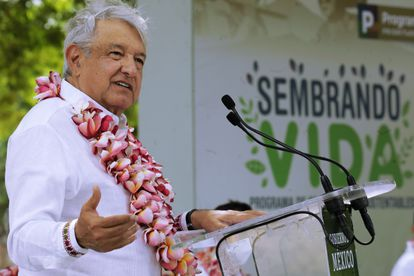 López Obrador, en un evento de Sembrando Vida en Oaxaca.
