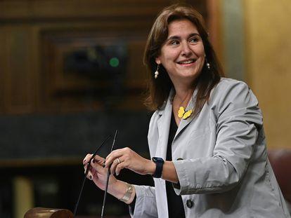 La diputada de Junts per Catalunya Laura Borràs, durante una intervención en el Congreso.