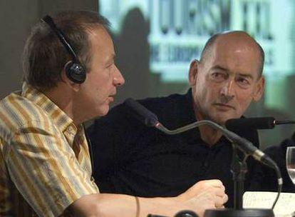 Michel Houellebecq y Rem Koolhaas, durante su conversación.