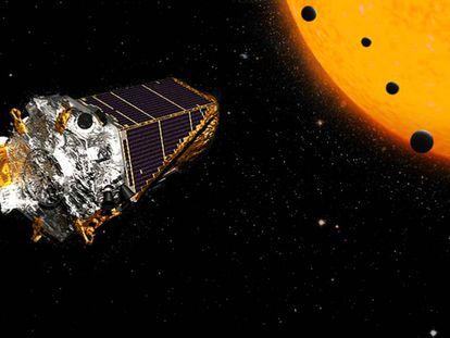 Ilustración del telescopio 'Kepler' de la NASA.