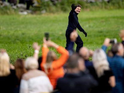 Tom Cruise, en el rodaje de 'Misión: Imposible' en Stranda, Noruega, el 6 de septiembre de 2020.