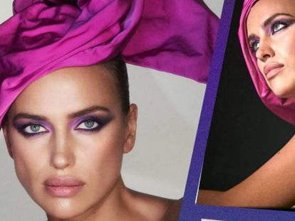 Irina Shayk como imagen de Marc Jacobs Beauty.