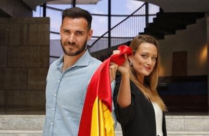 Saúl Craviotto y Mireia Belmonte, los abanderados españoles en la ceremonia de inauguración de los Juegos de Tokyo.