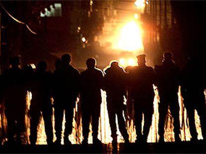 La policia contiene una de las manifestaciones en favor del líder del FPLP.