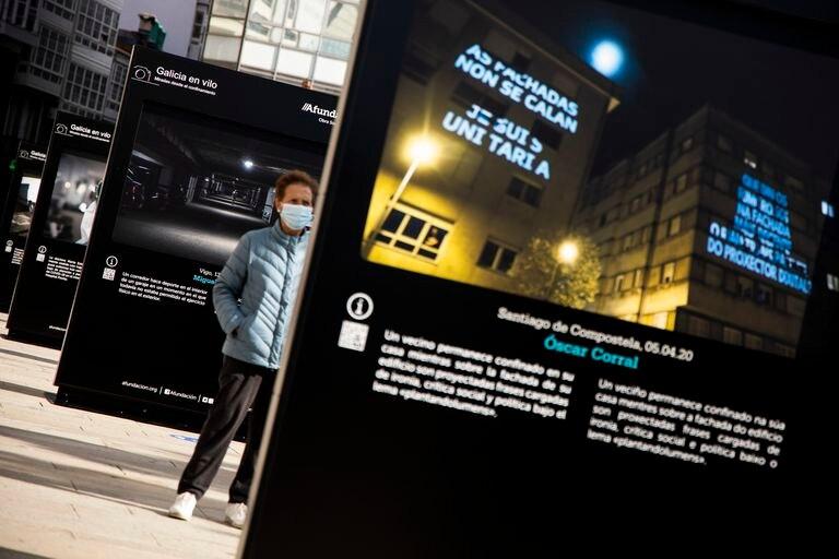 Inauguración de la exposición este viernes en las calles de A Coruña.