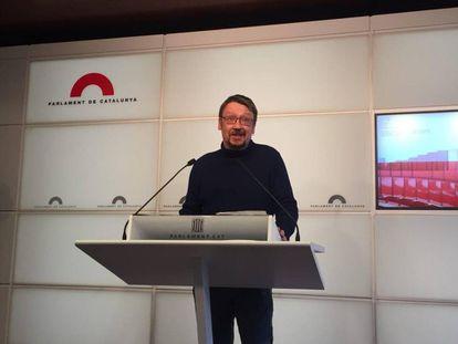 El líder de CatECP, Xavier Domènech.