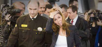 Alicia Sánchez-Camacho sale del juzgado de Barcelona.