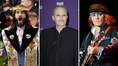 Jared Leto, Miguel Bosé y Johnny Depp