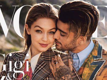 Gigi Hadid y Zayn Malik, fotografiado por Inez and Vinoodh para la portada de agosto de 'Vogue'.