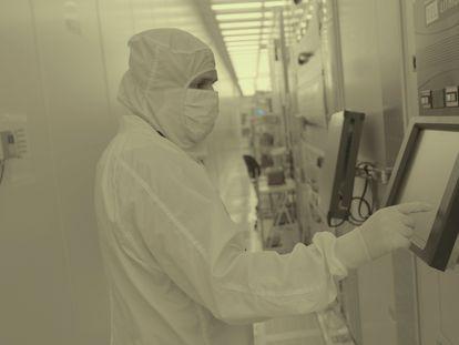 Centro de investigación en semiconductores de IBM en Albany (Nueva York), en una imagen sin datar distribuida por la compañía el 6 de mayo.