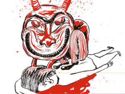 Ilustración de Liniers para 'Crímenes ejemplares'.