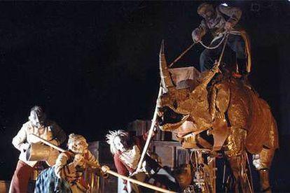 Escena del espectáculo del circo La Licorne, que participará en el Festival de Teatro y Artes de Calle, de Valladolid.
