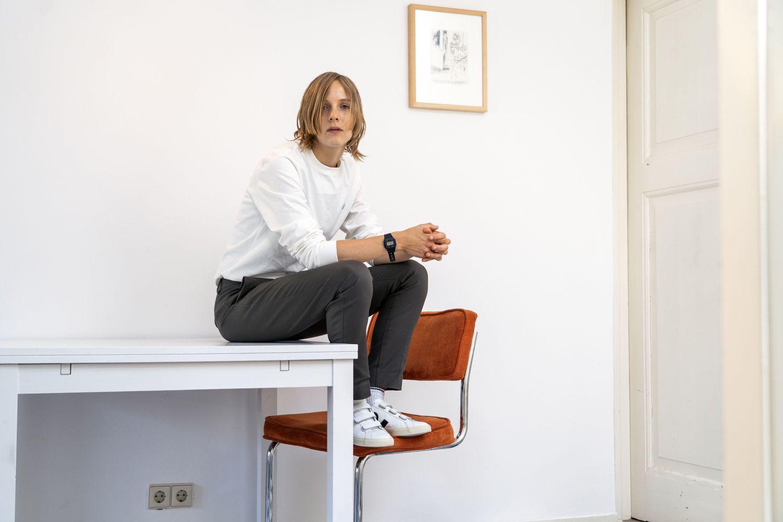 Marieke Lucas Rijneveld posa en julio en Utrecht.