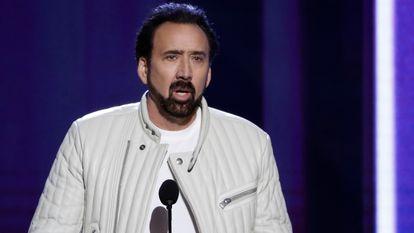 El actor Nicolas Cage en los Film Independent Spirit Awards, en Santa Monica, California, en febrero de 2020.