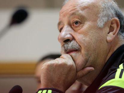 Vicente del Bosque, el pasado miércoles en León