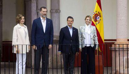 Los Reyes junto a Peña Nieto y su esposa en Zacatecas.